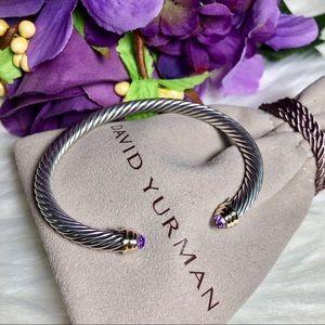 ❤️ David Yurman - Cable Bracelet w/ Amethyst & 14K